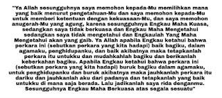 doa Istikharah.