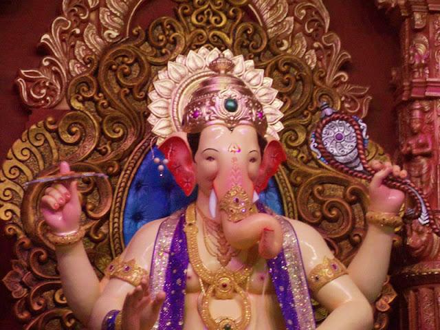 Ganesh Chaturthi Festival in Lalbaugcha Raja images wallpaper