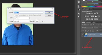 cara mudah mengganti background pas poto