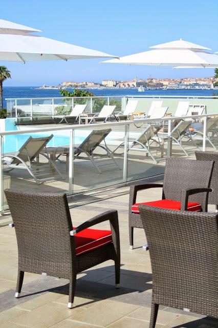 Terrasse de l'hôtel Best Western Ajaccio