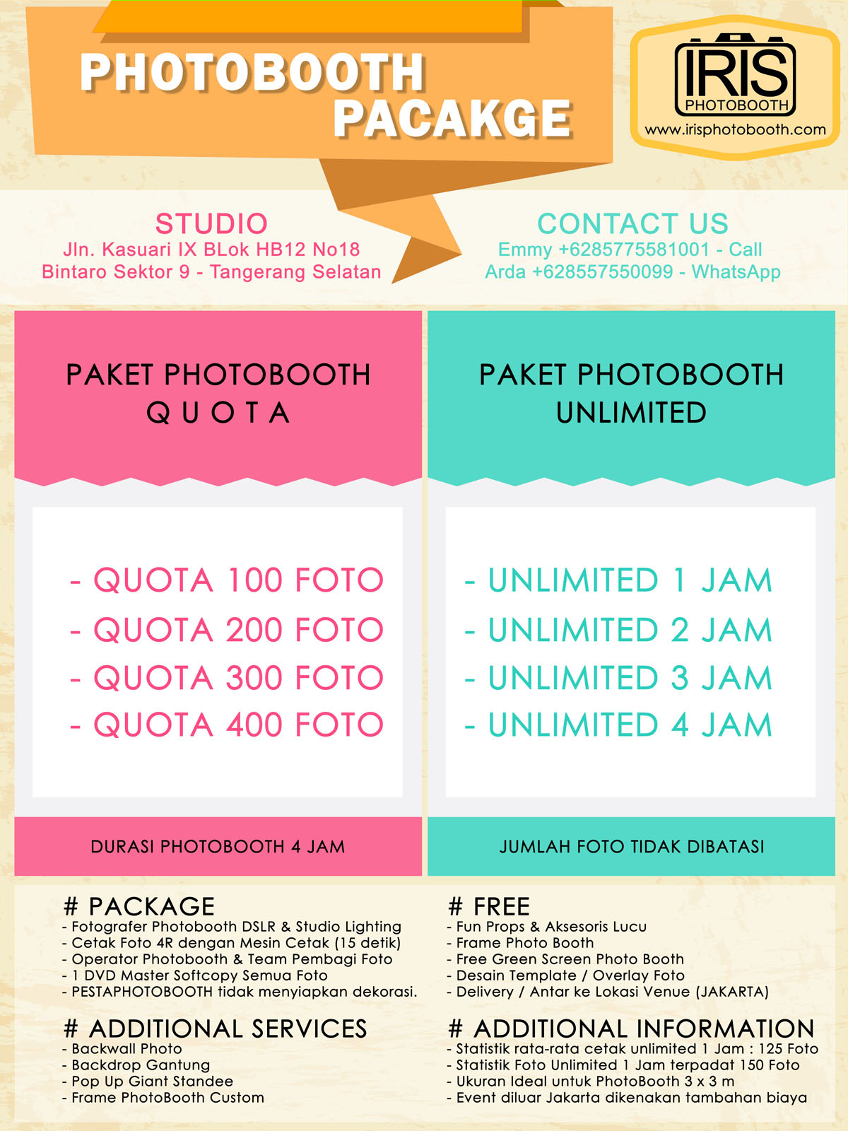 Pricelist photobooth murah