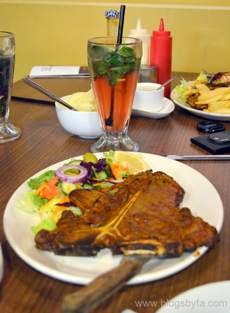 Madina Grill Halal London via Halal Eat - T bone steak