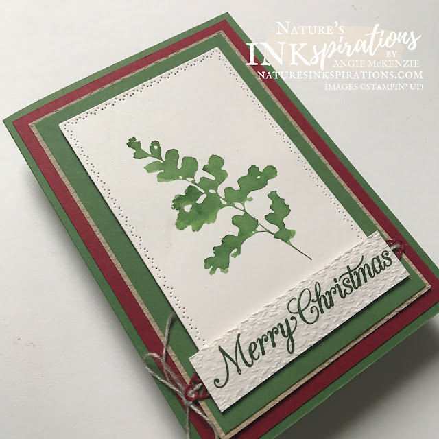 By Angie McKenzie for Stampin' Dreams Blog Hop; Click READ or VISIT to go to my blog for details! Featuring the Positive Thoughts and Poinsettia Petals Stamp Sets along with the Nature's Thoughts Dies from the Stampin' Up! 2021-2022 Annual Catalog; #christmascards #christmasinjuly #diecutting #watercolorstamping  #waterpainters #stampinup #positivethoughts #naturesthoughts #poinsettiapetals #tastefultextile  #diycrafts #linenthread #colorcoordination #stampindreamsbloghop #naturesinkspirations