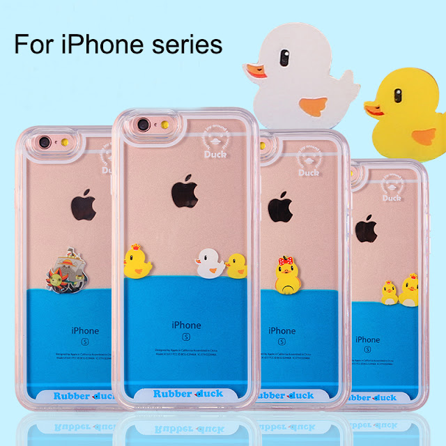 iPhone 8 Cover with Yellow Ducks Swimming.