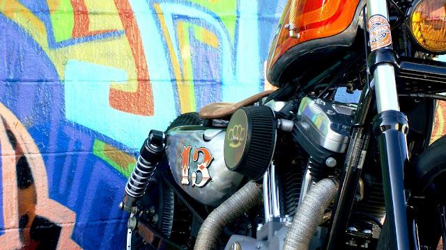 Harley Davidson Sportster By Machine 13 Hell Kustom