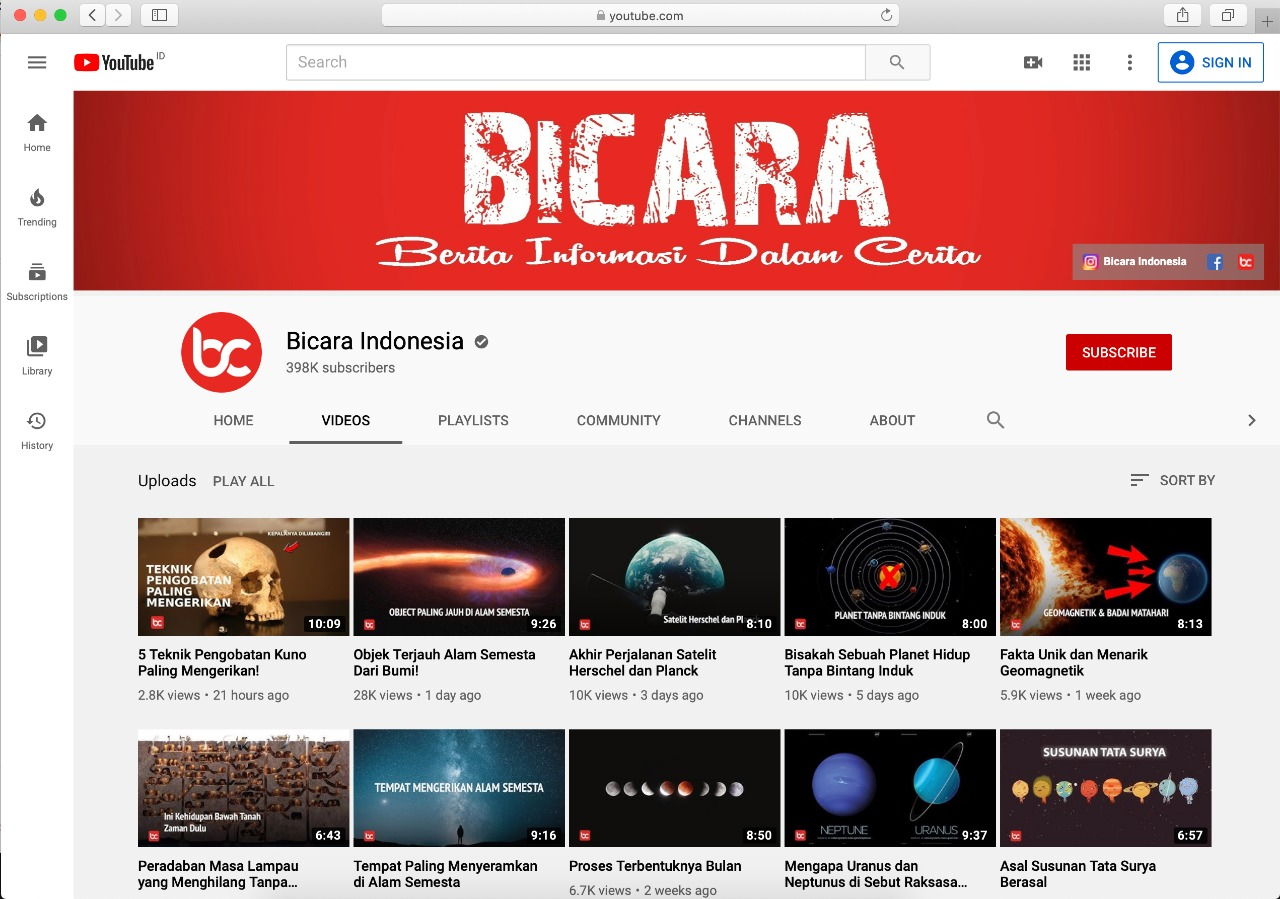 Youtube Bicara Indonesia