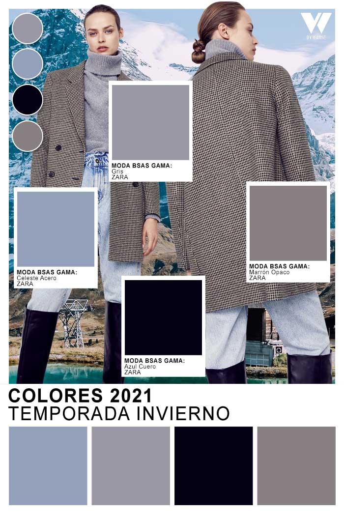 Tendencia colores del invierno 2021