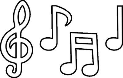 dibujos notas musicales colorear