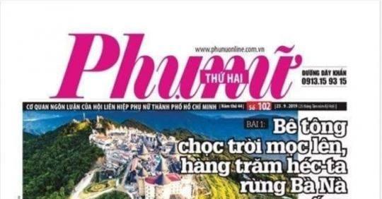 Sau loạt bài nhắm vào Sun Group, Báo Phụ nữ TP.HCM bị đình bản 1 tháng