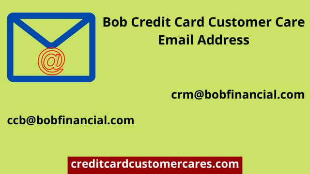 Bob credit card email address