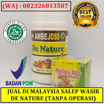 JUAL DI MALAYSIA SALEP WASIR DE NATURE (TANPA OPERASI)