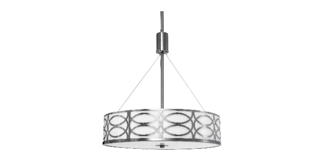 Best Choice Products 3-Light Metal and Glass Diffuser Drum Chandelier