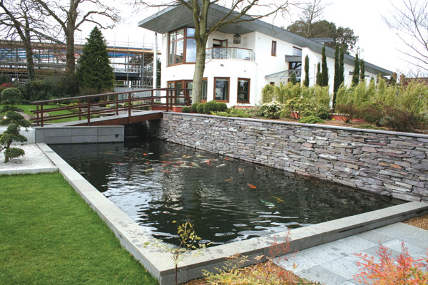This the latest minimalist fish pond design read article for Garden pond design and construction