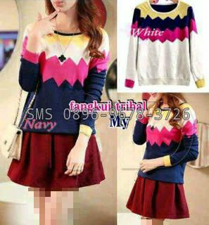 sweater tribal wanita