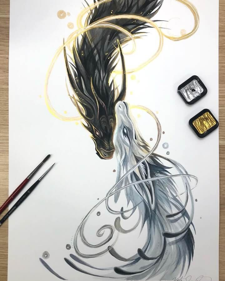 10-Duality-Dragons-Gold-and-Silver-Katy-Lipscomb-www-designstack-co