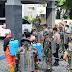 Dandim Pimpin Langsung Penyemprotan Desinfektan di Wilayah Karanganyar