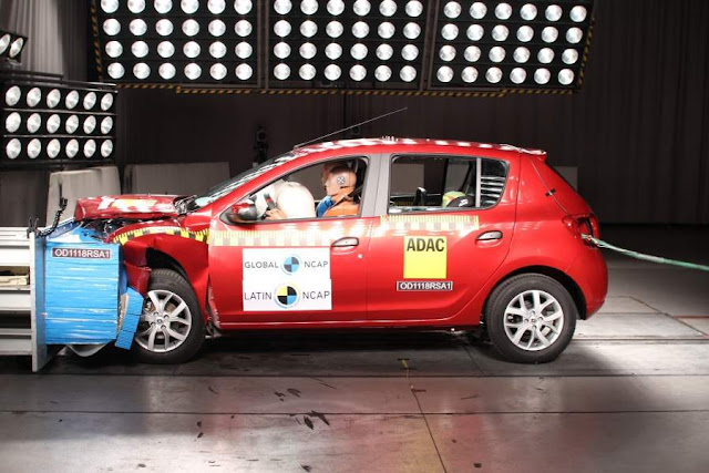 Renault Logan/Sandero reprovados em crash test