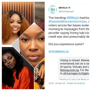 BBNaija Latest: See What Angry BBNaija Fans Are Making To Trend On Twitter Because Of Voting Issues