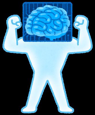 成長する人工知能のキャラクター(マッチョ)