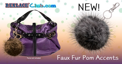 Faux Fur Pom Accents for your purse or key chain