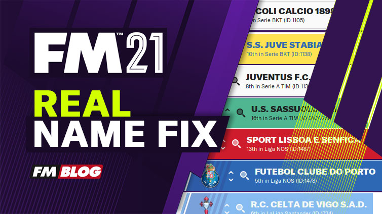 Football Manager 2021 Real Name Fix  FM21