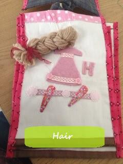 soft book pour enfants avec cheveux en laine