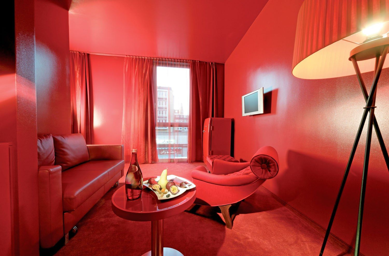 Salas en color rojo salas con estilo for Room design red colour