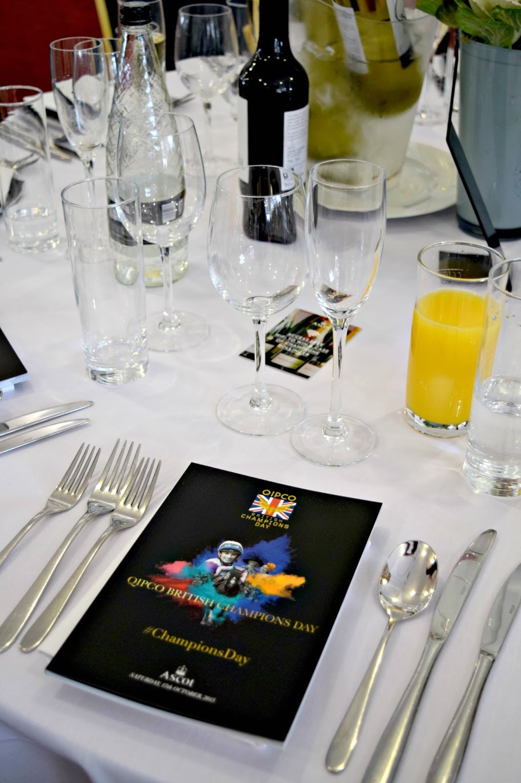 Table at Ascot Champions Day