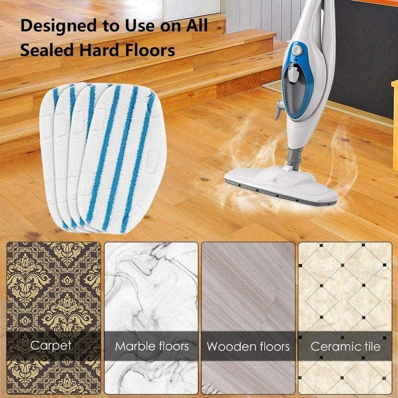 80%  off  Steam Mop Microfiber Cover Head Replacement Pad Floor Cleaning Cloth Steam Mops