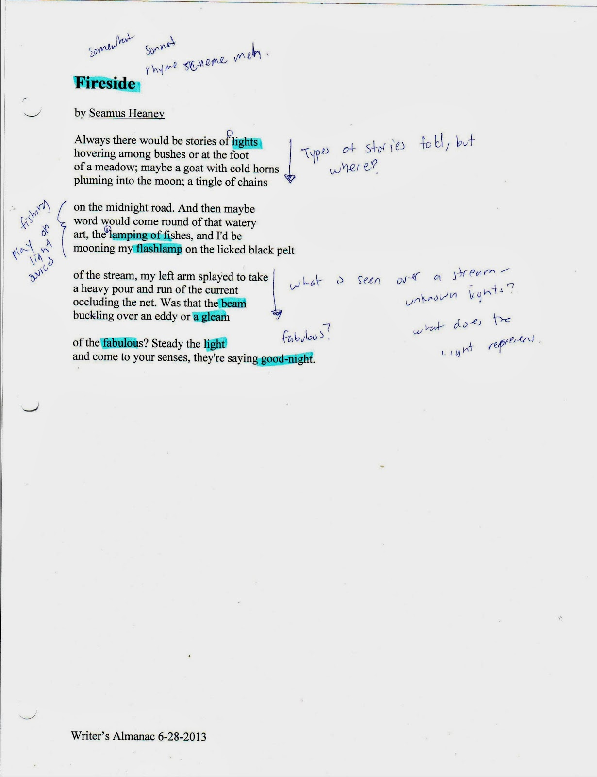 quatrain poems examples - photo #24