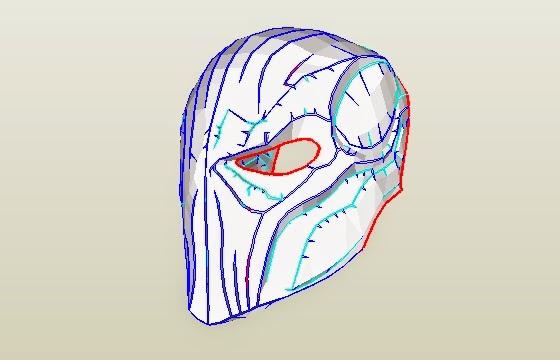 Dali Lomo Deathstroke Costume Mask Diy Cardboard Free