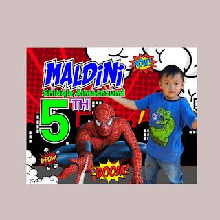 Banner Ulang Tahun Tema Spiderman