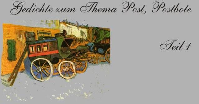 Gedichte Und Zitate Fur Alle Gedichte Zum Thema Post Postbote Teil 1