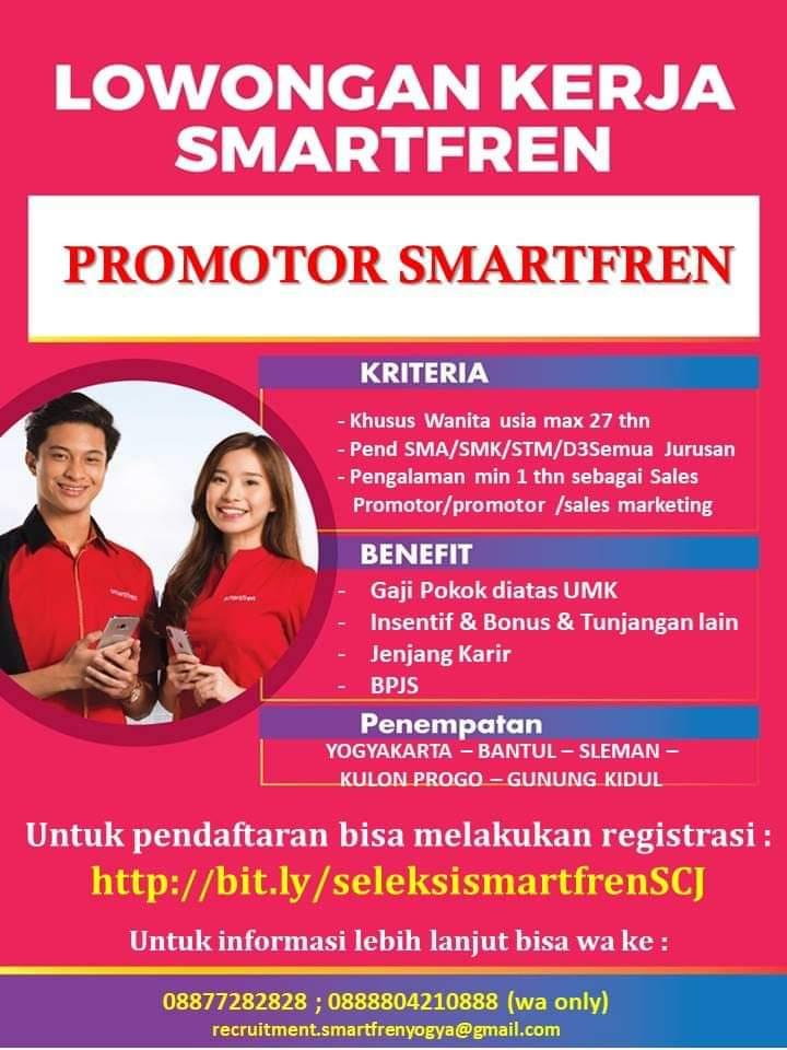 Lowongan Kerja Pt Smartfren Area Jogja Promotor April 2020 Loker Swasta