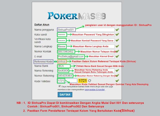 Daftar Akun ID Pro PKV Games SinhuaPro