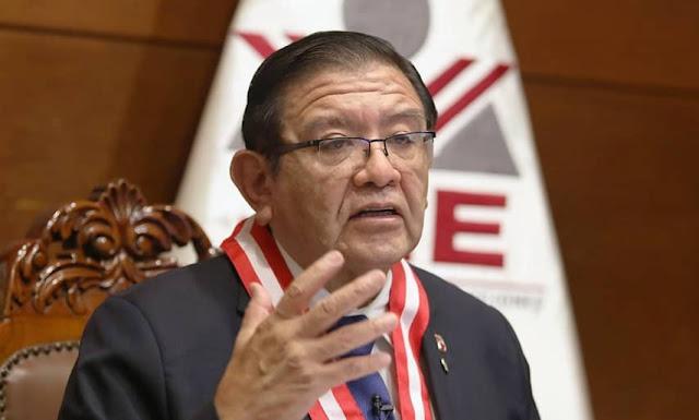 Presidente del JNE, Jorge Luis Salas Arenas