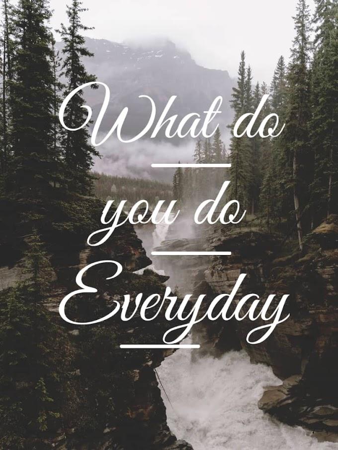 What Do You do everyday?!