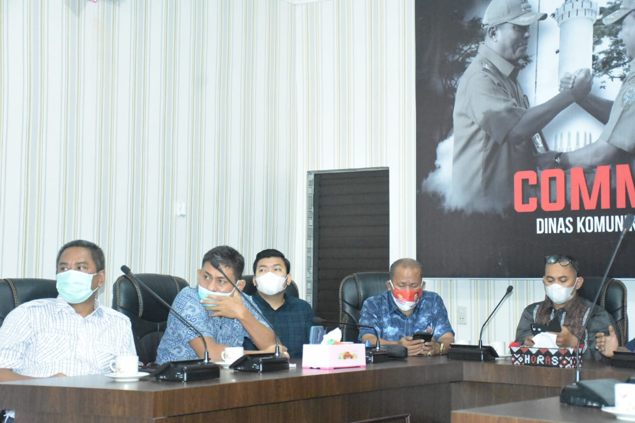 Kadis Kominfo Kota Tebingtinggi Menerima Komisi I DPRD Kota Medan