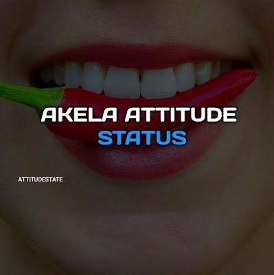 TOP 10+ ᐈ Akela Attitude Status In Hindi ( Quotes Shayari DP )