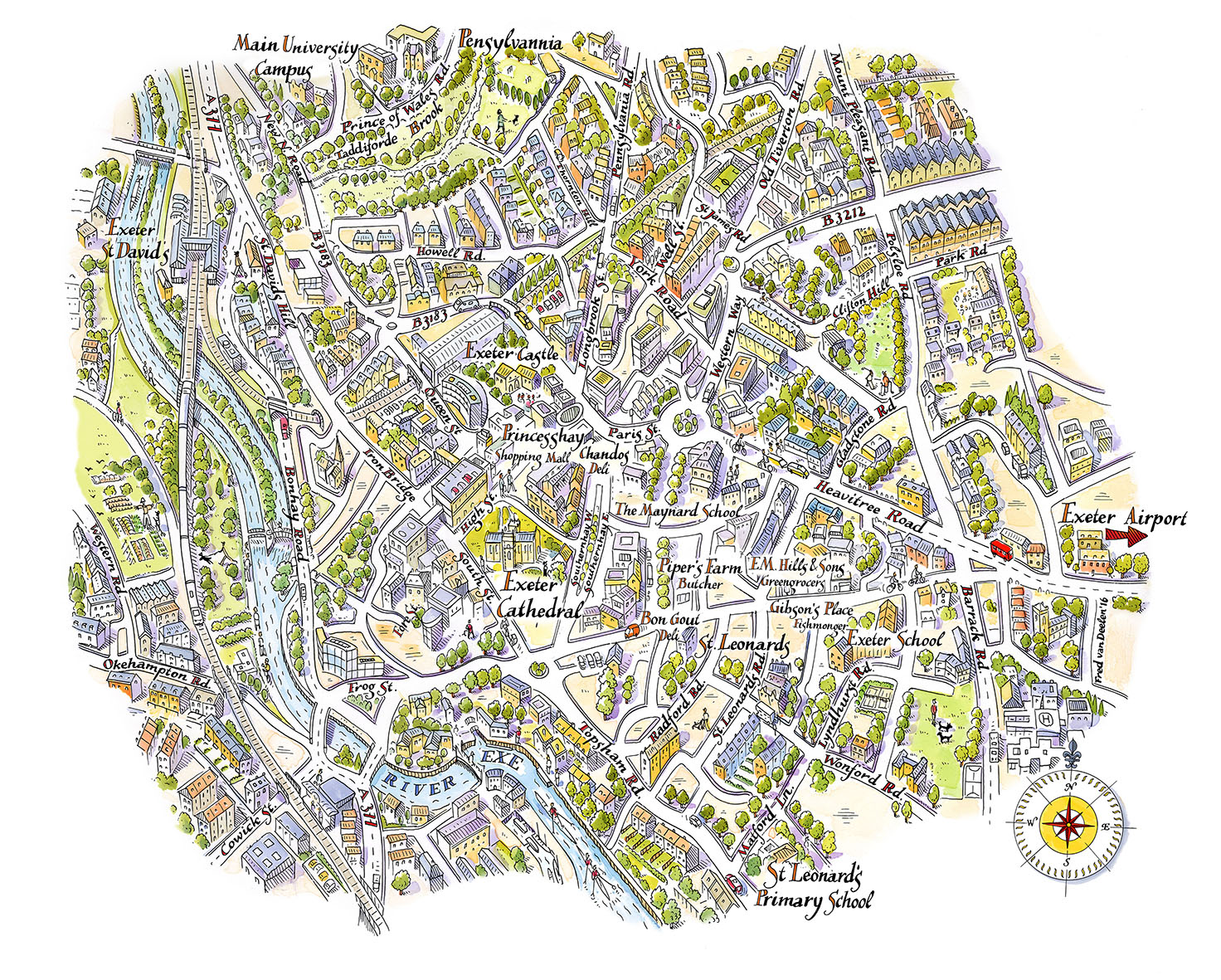 ILLUSTRATION FROM THE ORGANISATION Exeter Puts Itself on the Map