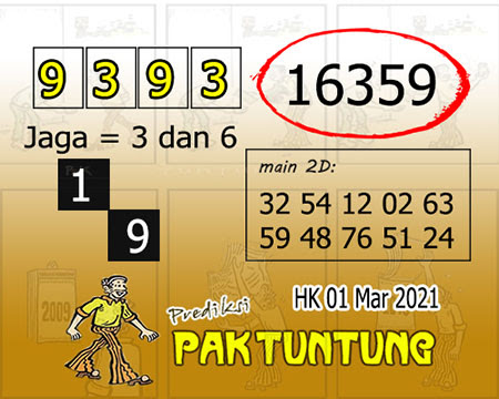 Prediksi Pak Tuntung Hk Senin 01 Maret 2021