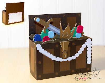 3d svg treasure box card