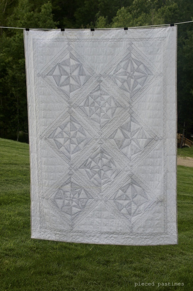 My Modified Mystery Quilt called Ice Crystals at Pieced Pastimes, Quilt Along, Mystery Quilt Along