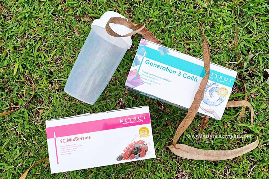 Generation 3 Colla, SC. MixBerries, Kitsui, review, beauty product, produk Kitsui, kesihatan, kecantikkan, kulit wajah, campuran minuman botani,