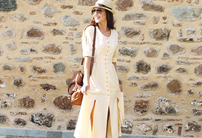 how to wear linen dress