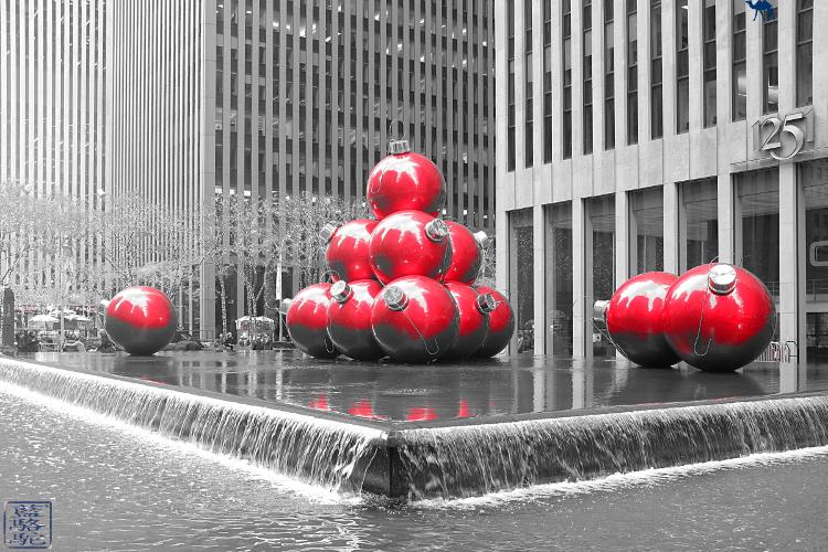 Le Chameau Bleu - Décoration de Noel à Manhattan New York USA