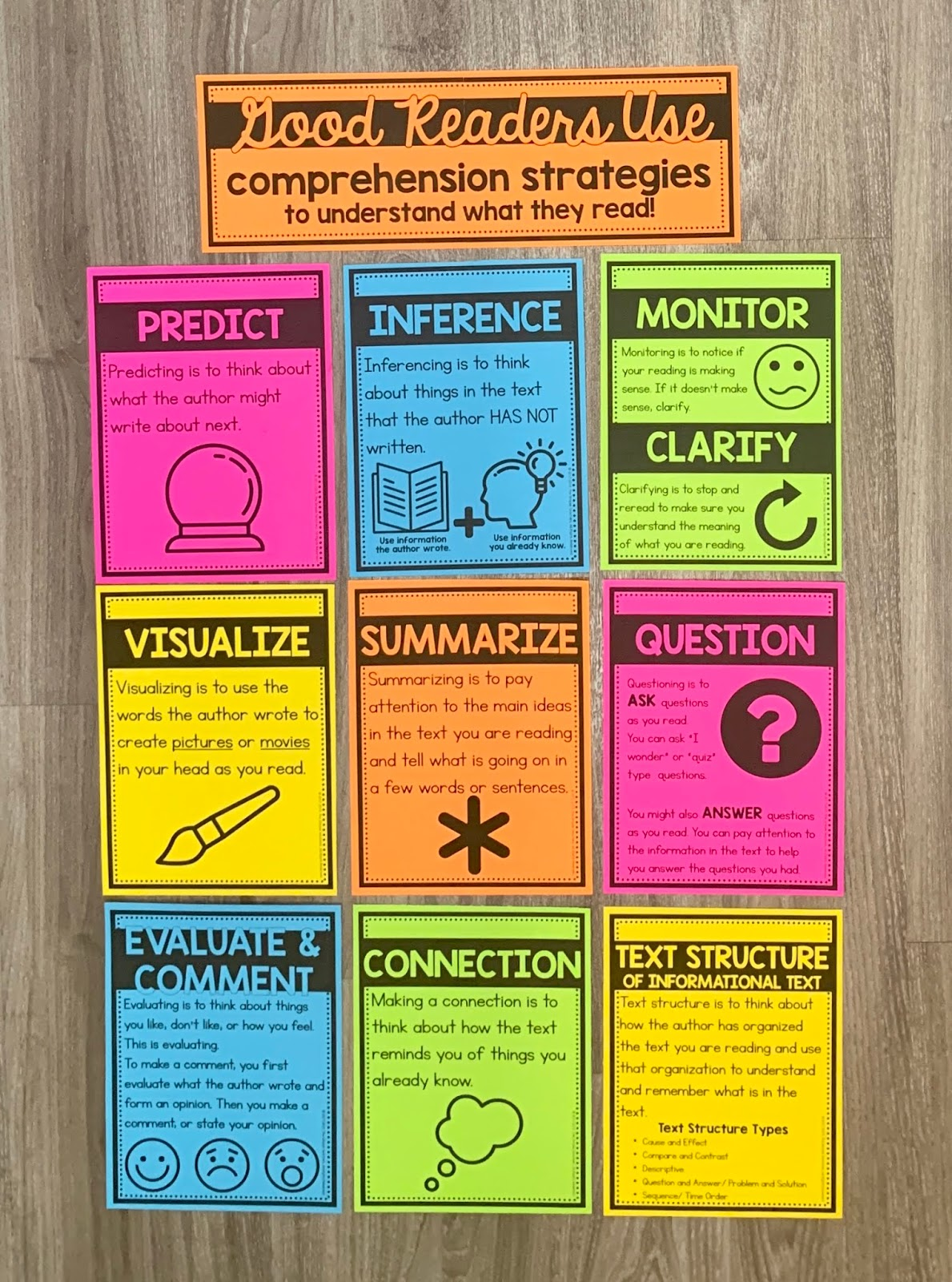 - The Simple Teachers: New Reading Comprehension Strategies Posters