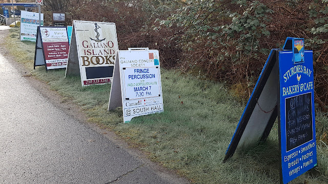 Billboards on Galiano Island...