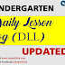 Kindergarten Daily Lesson Log (DLL) UPDATED!!
