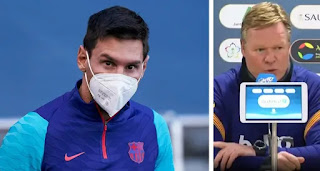 Koeman give update Leo Messi injury ahead Barcelona Supercopa final